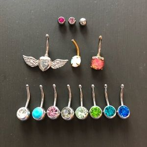 Jewelry - NEW Bundle of Opal Belly Button Navel Rings